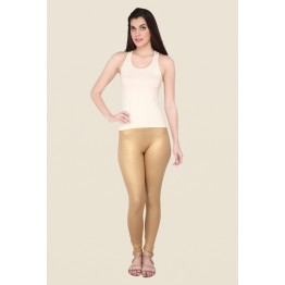 Gold Solid Shimmer Leggings